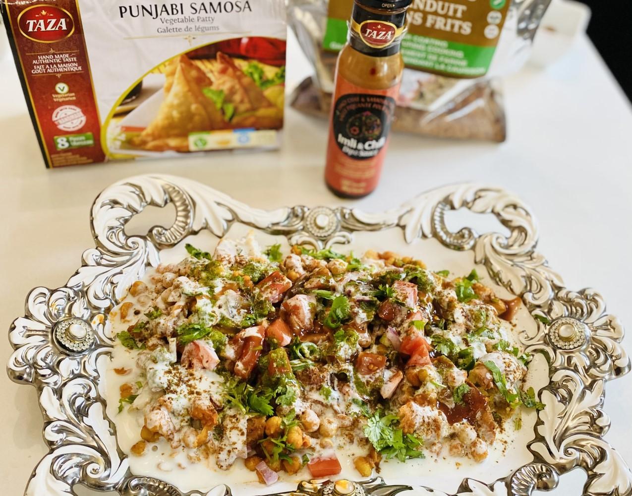 Easy Iftar Recipe: Chaat with Taza Punjabi Samosas