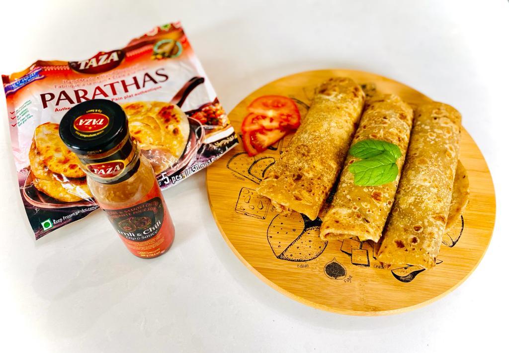 Easy Iftar Recipe: Tandoori Chicken Rolls with Taza Parathas